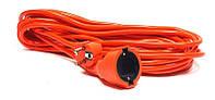 Удлинитель PowerPlant JY-3024/10 (PPCA08M100S1) 1 розетка, 10 м, оранжевый