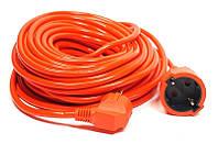 Удлинитель PowerPlant (PPCA16M20S1L) 1 розетка, 20 м, морозостойкий, оранжевый