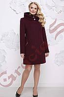 Женское кашемировое пальто с капюшоном. 48-58. розница опт. стильная одежда.