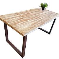 """Прямокутний стіл """"Олоф"""" для кафе барів з масиву дерева і ніжки з металу"""