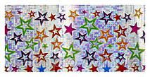 Фольга для ногтей переводная, радужные звезды
