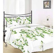 Комплект постельного белья Вилена бязь Голд двуспальный размер Магнолия на белом