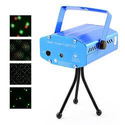 Лазер диско YX-09 / D09, 220V проектор (красный, зеленый) стробоскоп