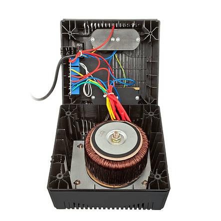 Стабілізатор LogicPower LPT-1000RV, 4 x євро, вольтметр, фото 2