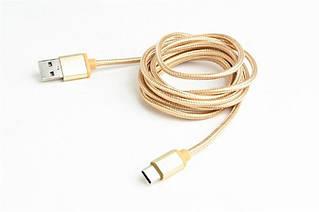 Кабель Cablexpert (CCB-mUSB2B-AMCM-6-G) USB 2.0 - USB Type-C, 1.8м, золотистый