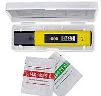 Цифровий pH метр pH-02 (ATC), тестер кислотності в пеналі, фото 1