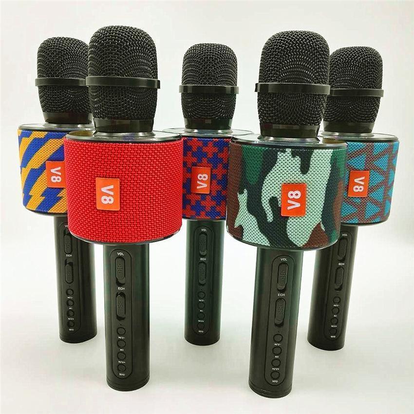 Беспроводной Bluetooth микрофон для караоке V8 Karaoke