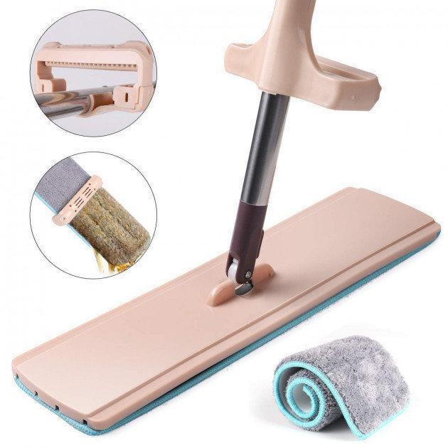 Швабра ледащо для швидкого прибирання з віджимом Spin Mop 360 з мікрофіброю