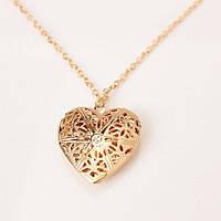 Кулон-медальон «Ажурное сердце»