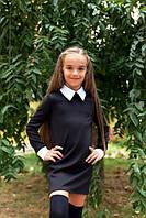 Школьное платье с длинным рукавом  кл095
