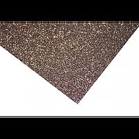 Фоамиран блестящий / глиттерный на клеевой основе, 2 мм, 20х30 см, коричневый