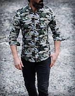 Стильна чоловіча сорочка хакі, фото 1