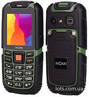 Противоударный Телефон Nomi i242 X-Treme (Black-Green)