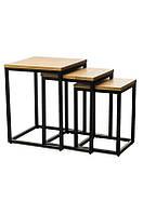 CS-10 Комплект кофейных столов (орех/черный)