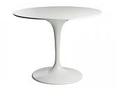 Дизайнерский стол SDM Тюльпан-Мини белый, диаметром 60 см, круглый на ножке