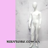 Манекен детский подростковый белый безликий матовый для магазина одежды, 140 см ( + Видео)