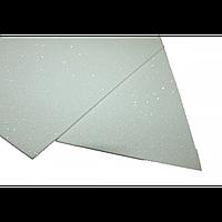 Фоамиран блестящий , 2 мм, 20х30 см, белый