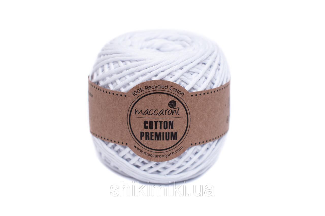 Эко шнур Maccaroni Cotton Premium 2 мм, цвет Белый