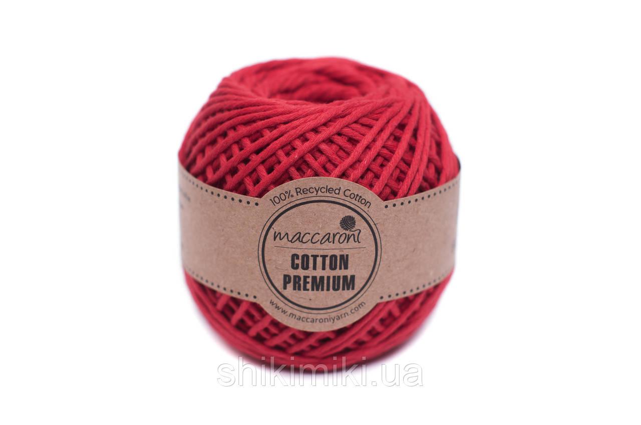 Эко шнур Maccaroni Cotton Premium 2 мм, цвет красный
