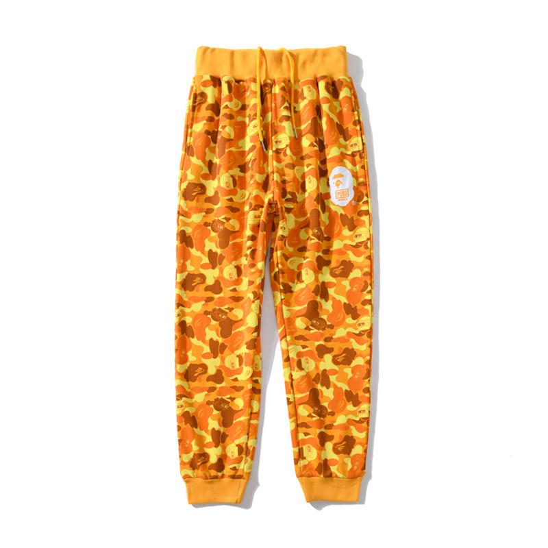 Штаны Bape x PUBG жёлтые мужские женские