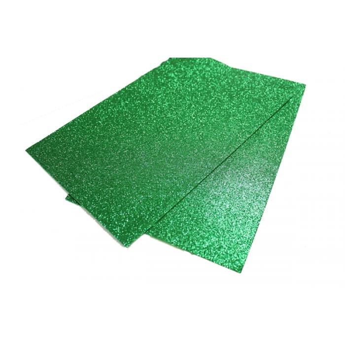 Фоамиран блестящий , 2 мм, 20х30 см, зеленый