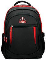 Рюкзак (ранец) школьный Enrico Benetti Eb62027618 Sevilla Black-Red с отделом для ноутбука 32*44*24см
