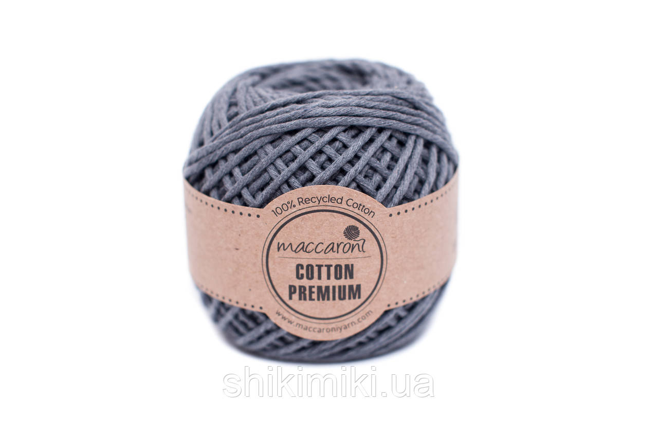Эко шнур Maccaroni Cotton Premium 2 мм, цвет мышиный