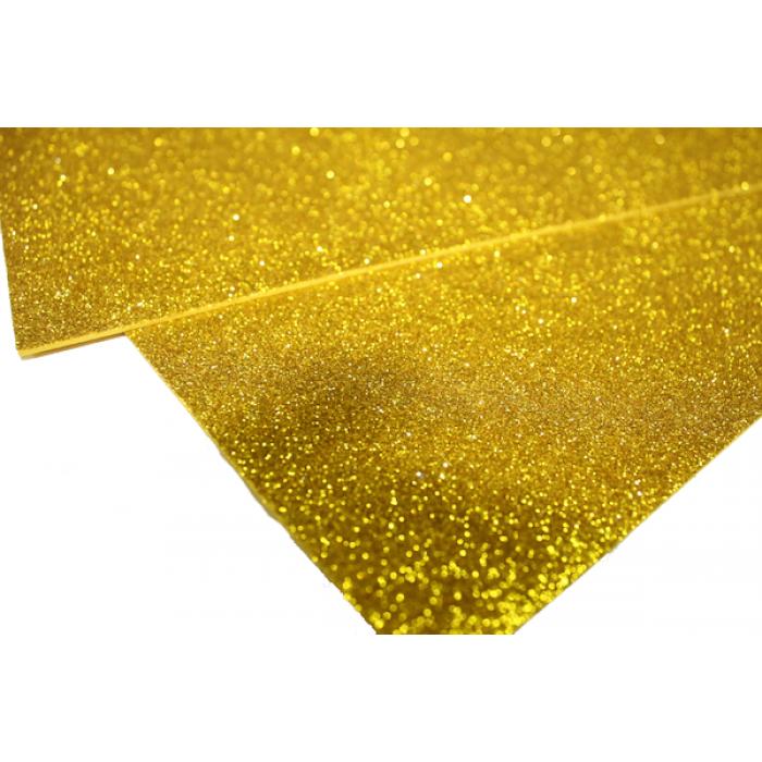 Фоамиран блестящий , 2 мм, 20х30 см, желтый