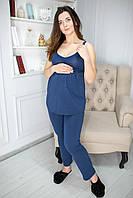 885503 Пижама для беременных с брюками синяя, фото 1