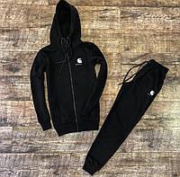 Мужской зимний спортивный костюм черный
