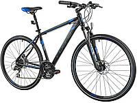 Велосипед кросс INDIANA X-Cross 3.0 M21 black-blue