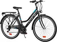 Велосипед прогулочный INDIANA Trekker D28 black-blue
