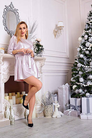 Очаровательное блестящее клубное платье длиной мини, фото 2