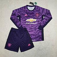 Футбольная форма Манчестер Юнайтед длинный рукав 2019-2020 вратарская, фиолетовая
