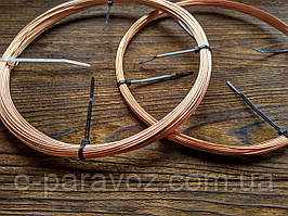 Медь 1 мм - 10 метров, медная проволока для рукоделия, бисера, бижутерии