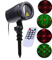 Уличный декоративный лазерный проектор Moving Garden Laser Light (зеленый/красный).