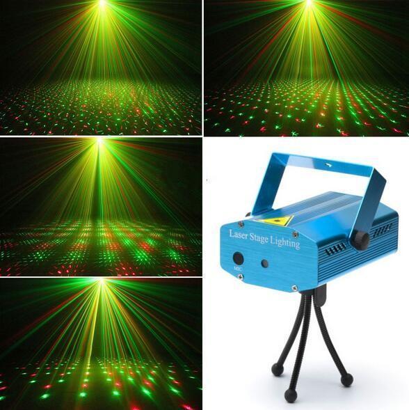 Мини лазерный проектор ХХ - 027, внутренний проектор, новогодний лазер (Точки)