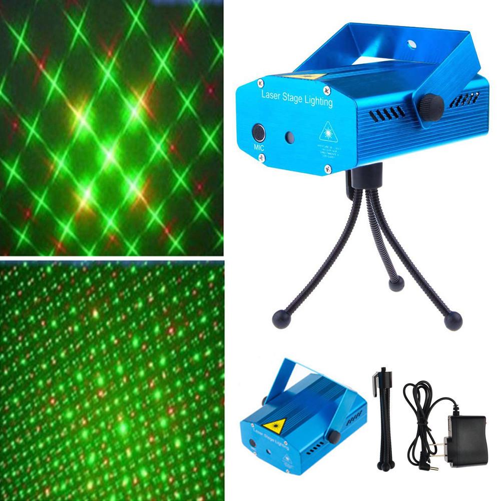 Мини лазерный проектор ХХ - 041, внутренний проектор, новогодний лазер (Рисунок: точки с линиями)