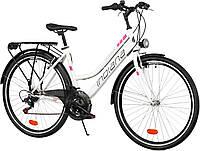 Велосипед прогулочный INDIANA Trekker D28 white-violet