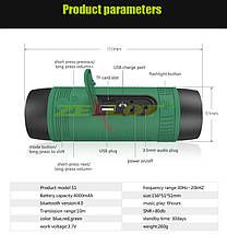 Портативна Bluetooth колонка Zealot S1 з функцією power bank і ліхтариком, фото 3
