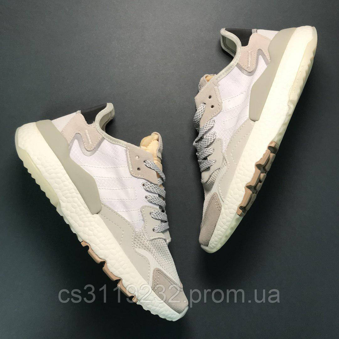 Чоловічі кросівки Adidas Nite Jogger Whitе Grey (білі/сірі)