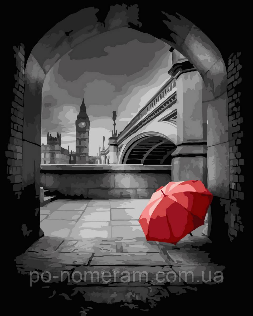 Рисование по номерам  Красный зонт в арке (BK-GX32893) 40 х 50 см (Без коробки)