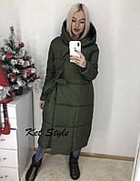 Куртка женская длинная зимняя 42-46 рр., фото 1