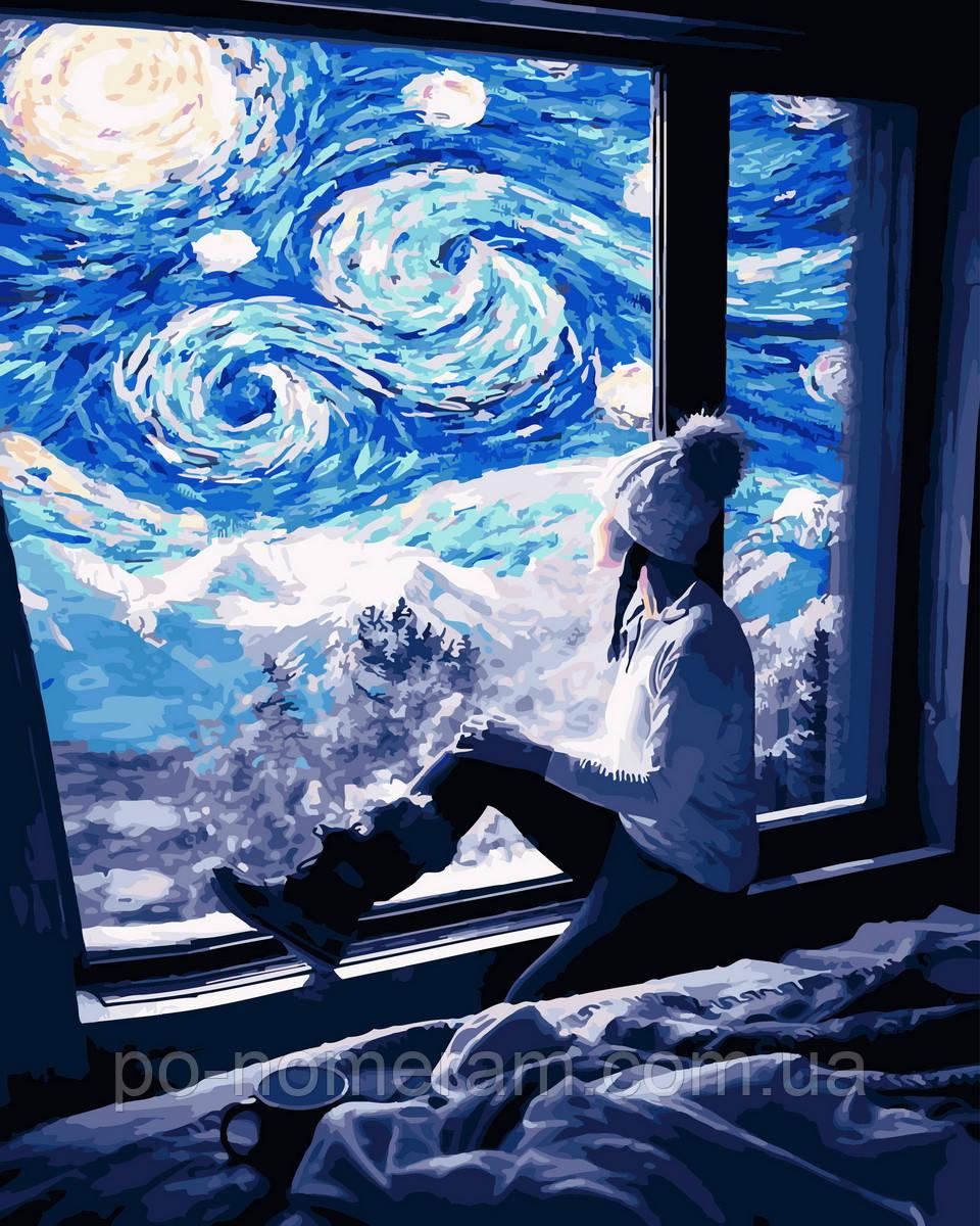 Раскраска для взрослых Звёздная ночь (BK-GX30434) 40 х 50 ...