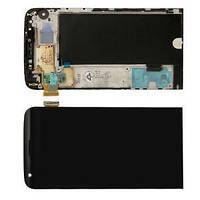 LG H820 H830 H850 G5 дисплей в зборі з тачскріном модуль з рамкою чорний