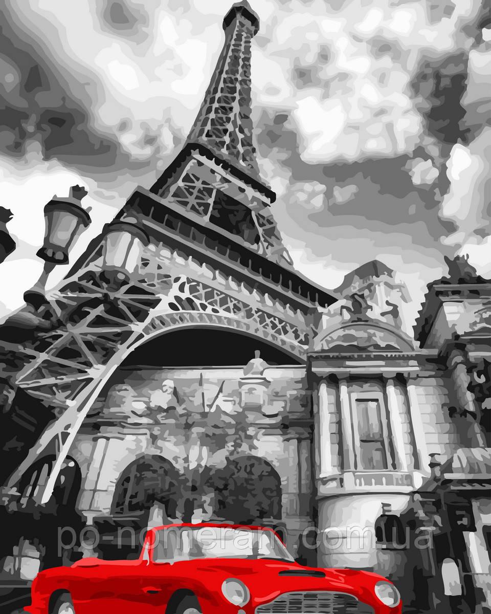 Картина по номерам  Красный ретро-автомобиль (BRM32129) 40 х 50 см