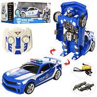 Трансформер игрушка 28170 р/у,аккум,полиция,машина+робот,31 см,музыка, свет, танцует,USBзар,2 цвета