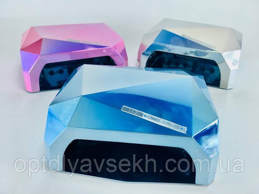UV/LED лампа для полимеризации ногтей DIAMOND Chrom, 36 Вт.
