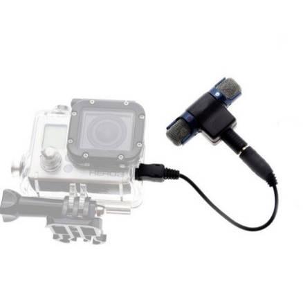 Петличный микрофон для Gopro Hero 3+/4  с AUX выходом, фото 2