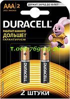Щелочные батарейки Duracell AAA (LR03) MN2400 Basic 6 шт